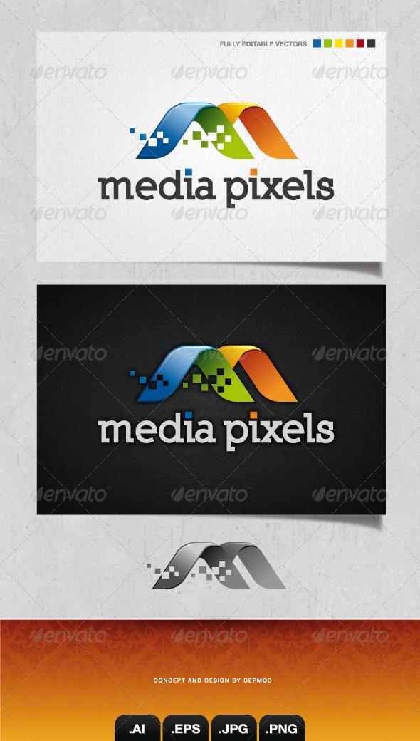 GraphicRiver Media Pixels Logo 4286527
