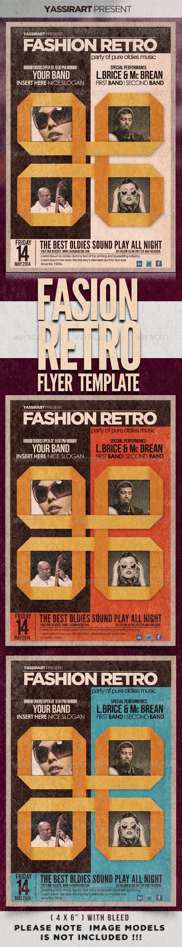 GraphicRiver Fashion Retro Flyer Template 4485686