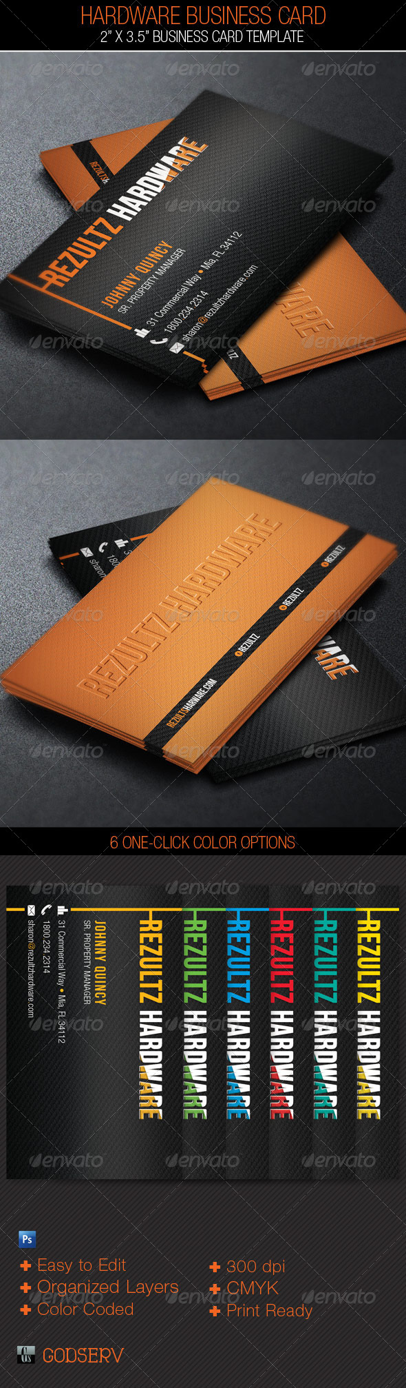 GraphicRiver Hardware Business Card Template 4485757