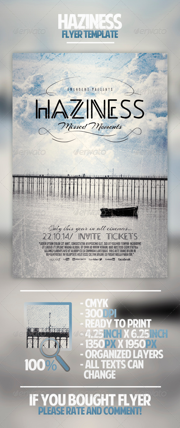 GraphicRiver Haziness Flyer Template 4485877