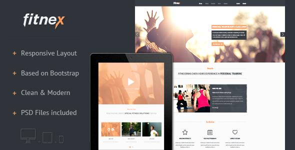 Fitnex - Responsive HTML Landing Page
