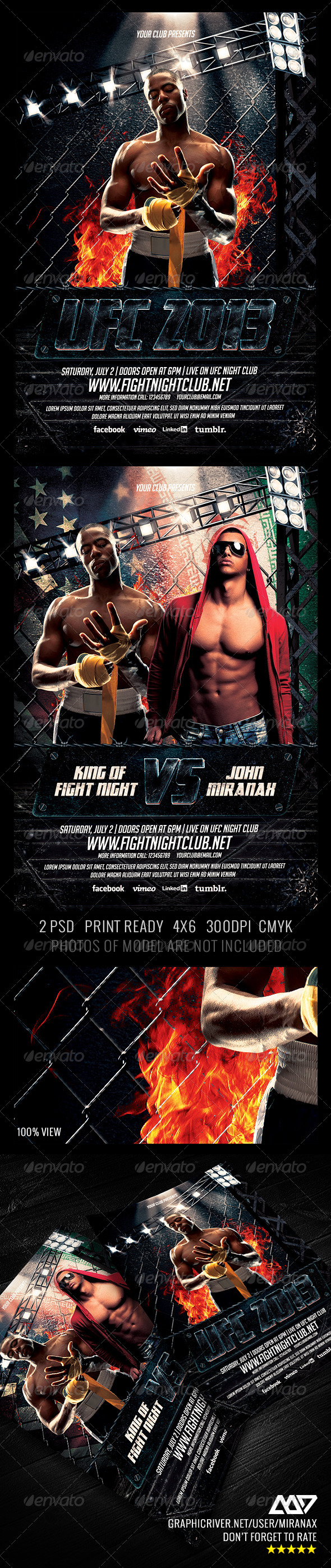 GraphicRiver MMA UFC Showdown Flyer Template 4387811