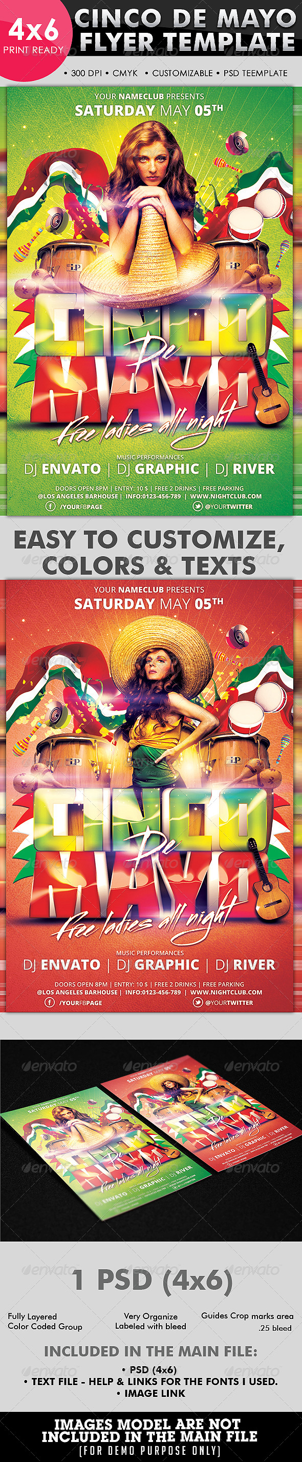 GraphicRiver Cinco De Mayo Flyer Template 4486101