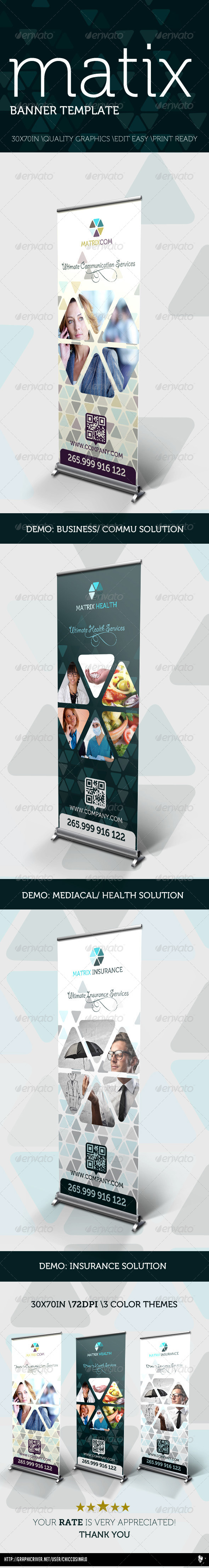 Matrix Banner Template - Signage Print Templates