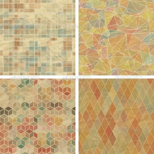 GraphicRiver Seamless Abstract Geometric Patterns Set 4486345