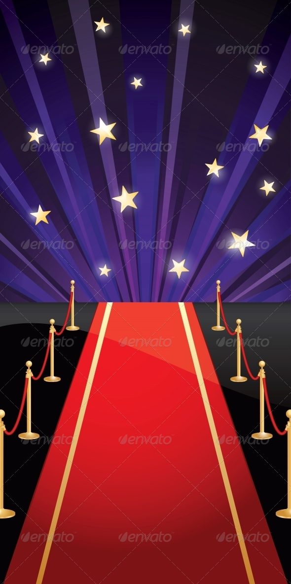GraphicRiver Vector Background with Red Carpet and Stars 4486692