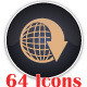 64 Web Icons Pack / EPS Vector - GraphicRiver Item for Sale