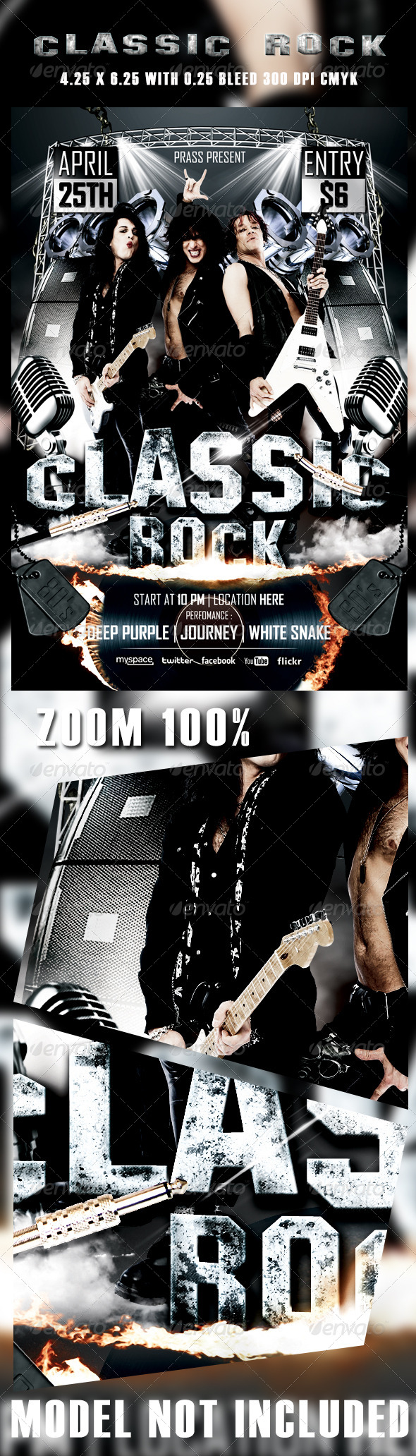 GraphicRiver Classic Rocker Flyer Template 4487428