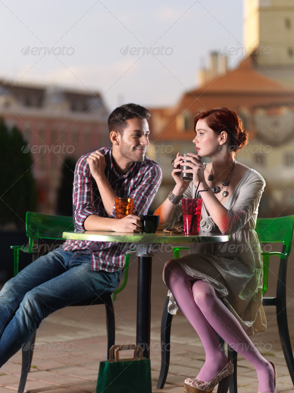 at caffe on city square - Stock Photo - Images