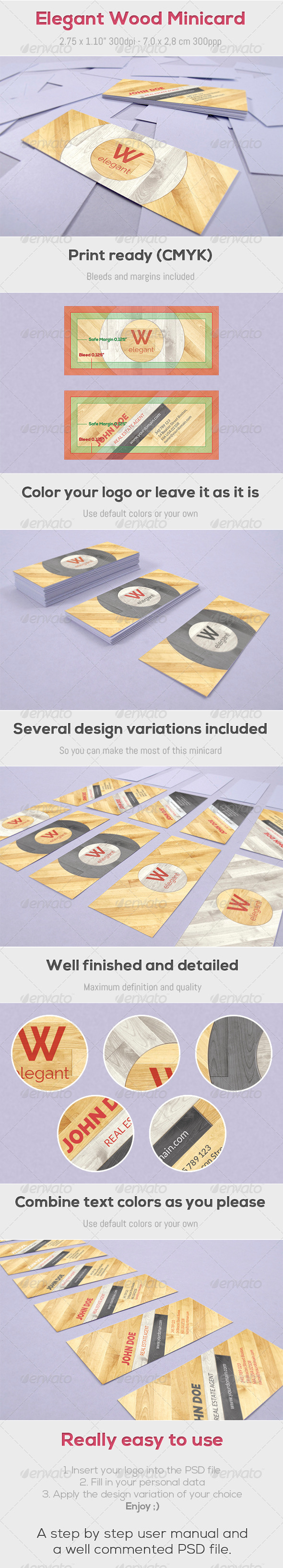 GraphicRiver Elegant Wood Minicard 4487722