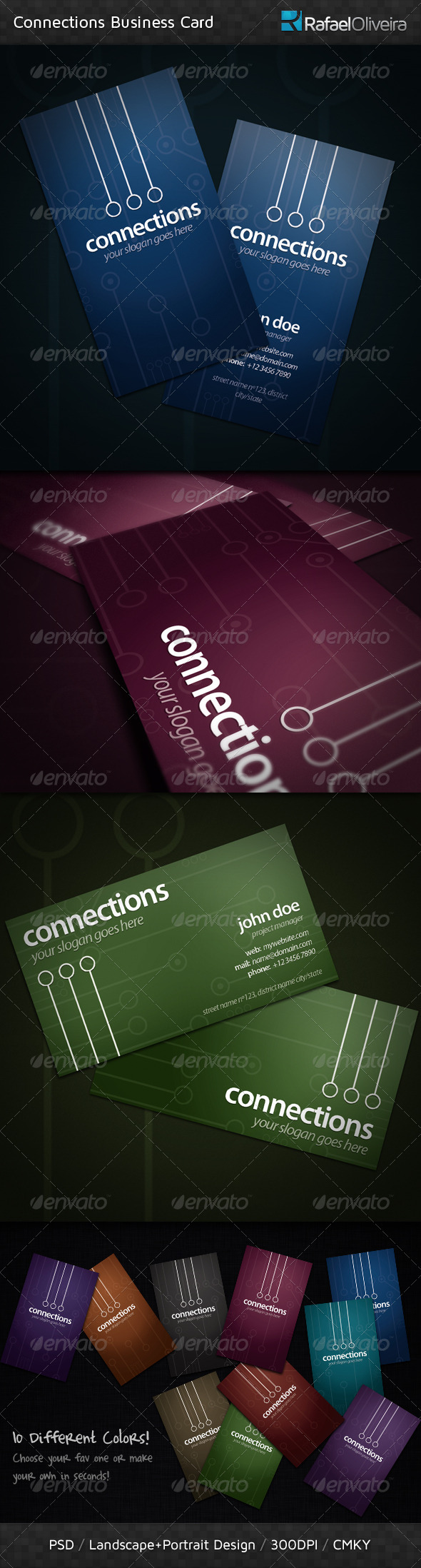 Connections Business Card - Corporate Business Cards