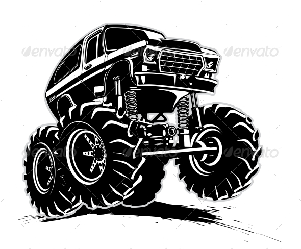 GraphicRiver Cartoon Monster Truck 4488349