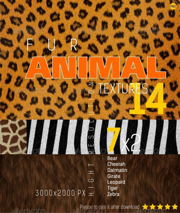 GraphicRiver Fur Animal Texture Backgrounds 4488370