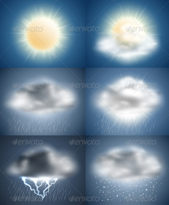 Weather Icons Collection (day) - Seasons Nature