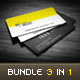 3 in 1 Creative Business Card Bundle - GraphicRiver Item for Sale