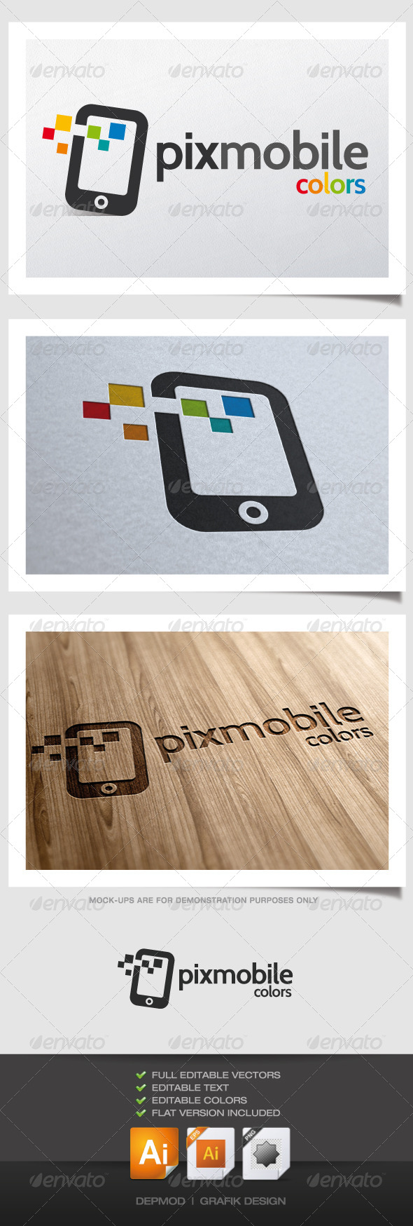 GraphicRiver Pixmobile Colors Logo 4489078