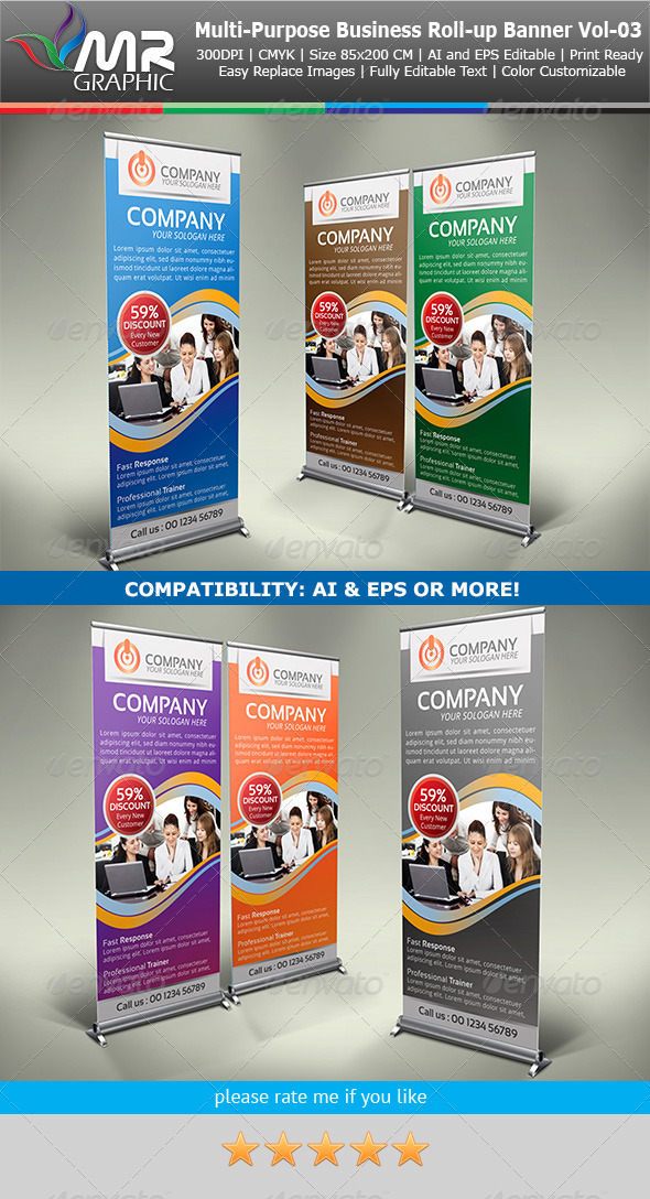 GraphicRiver Multipurpose Business Roll-Up Banner Vol-03 4130317
