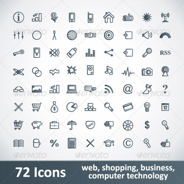 Large Icon Set Large Icons Set