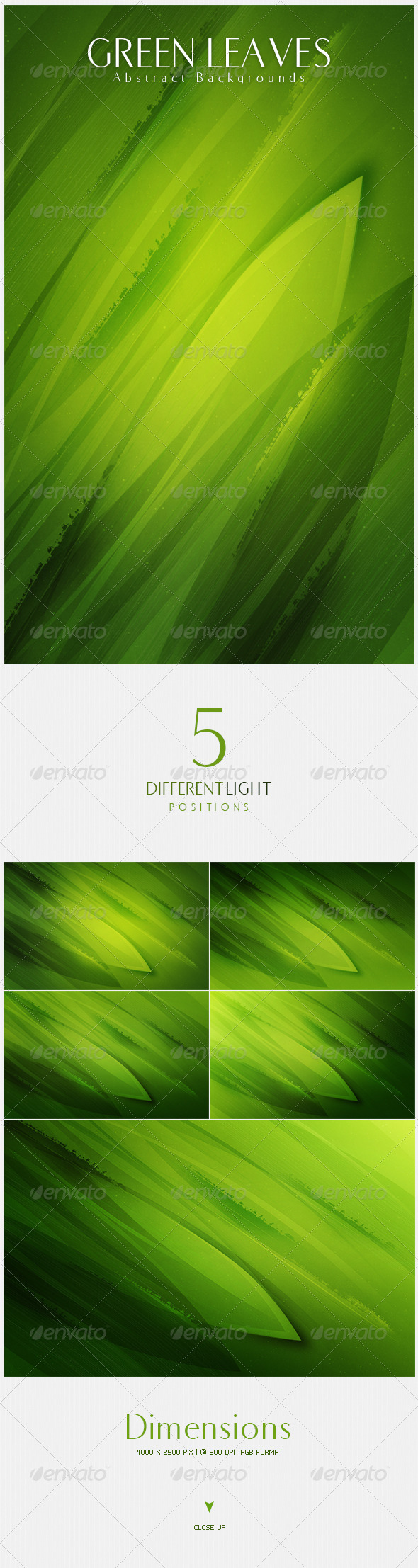 GraphicRiver Green Leaves Abstract Backgrounds 4489240