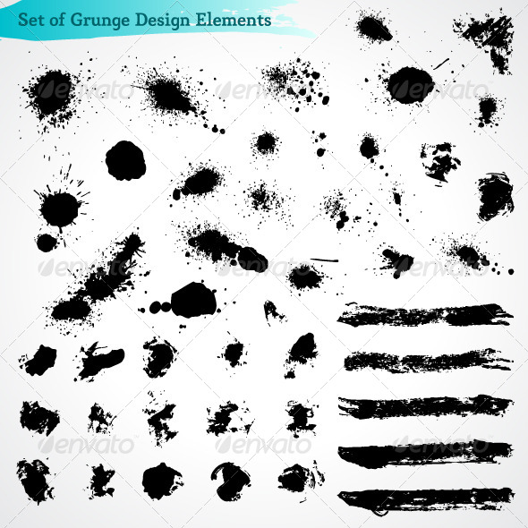 GraphicRiver Vector Set of Grunge Design Elements 4489521