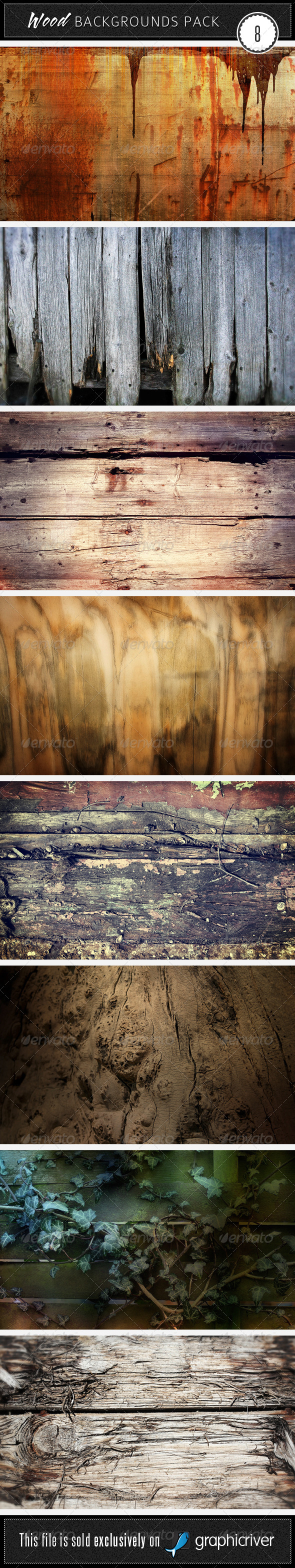 GraphicRiver Wood Backgrounds Pack 7 4489599