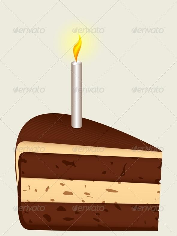 GraphicRiver Piece of Birthday Cake 4489708