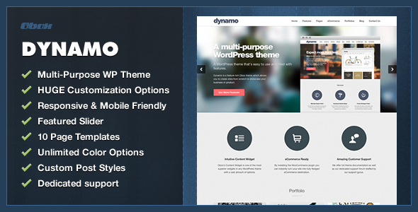 ThemeForest Dynamo Multi-Purpose Business WordPress Theme 4481492
