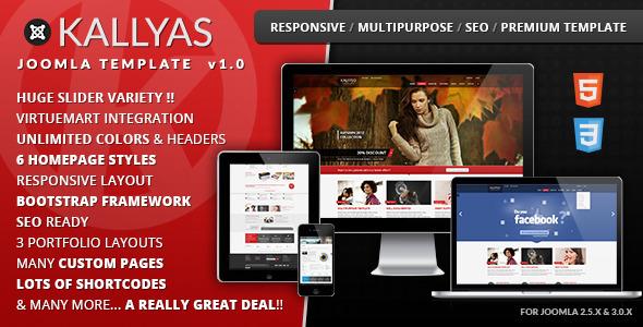 KALLYAS Responsive Multi-purpose Joomla Template - Retail Joomla