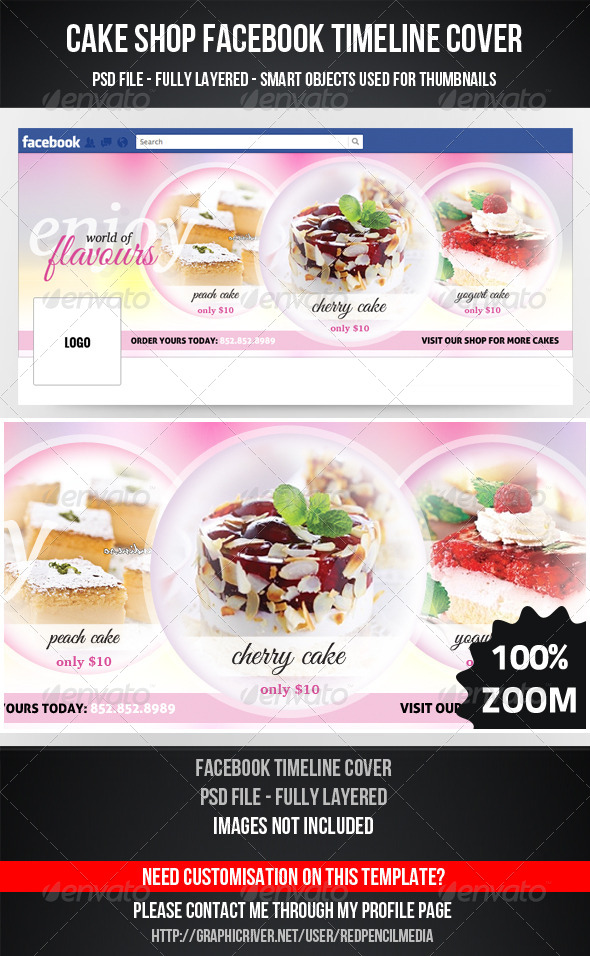 GraphicRiver Cake Shop Facebook Timeline Cover 4490129