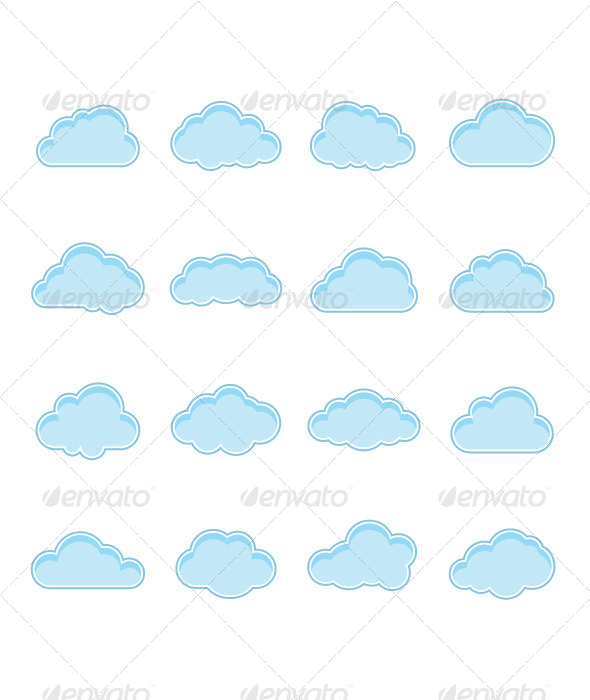 GraphicRiver Blue Clouds 4490149