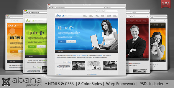 Abana - Premium JomSocial Ready Business Joomla Template - Screenshot 01 - Abana Joomla Template