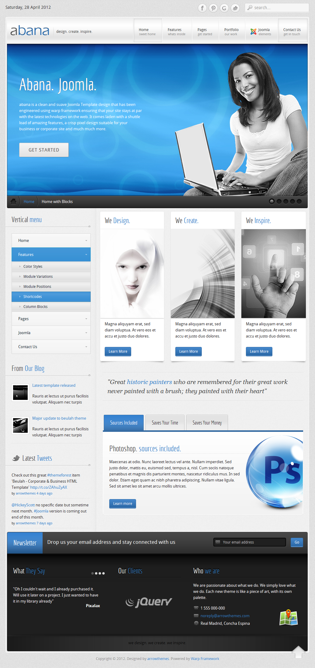 Abana - Premium JomSocial Ready Business Joomla Template - Screenshot 02 - Abana Joomla Template - Home page