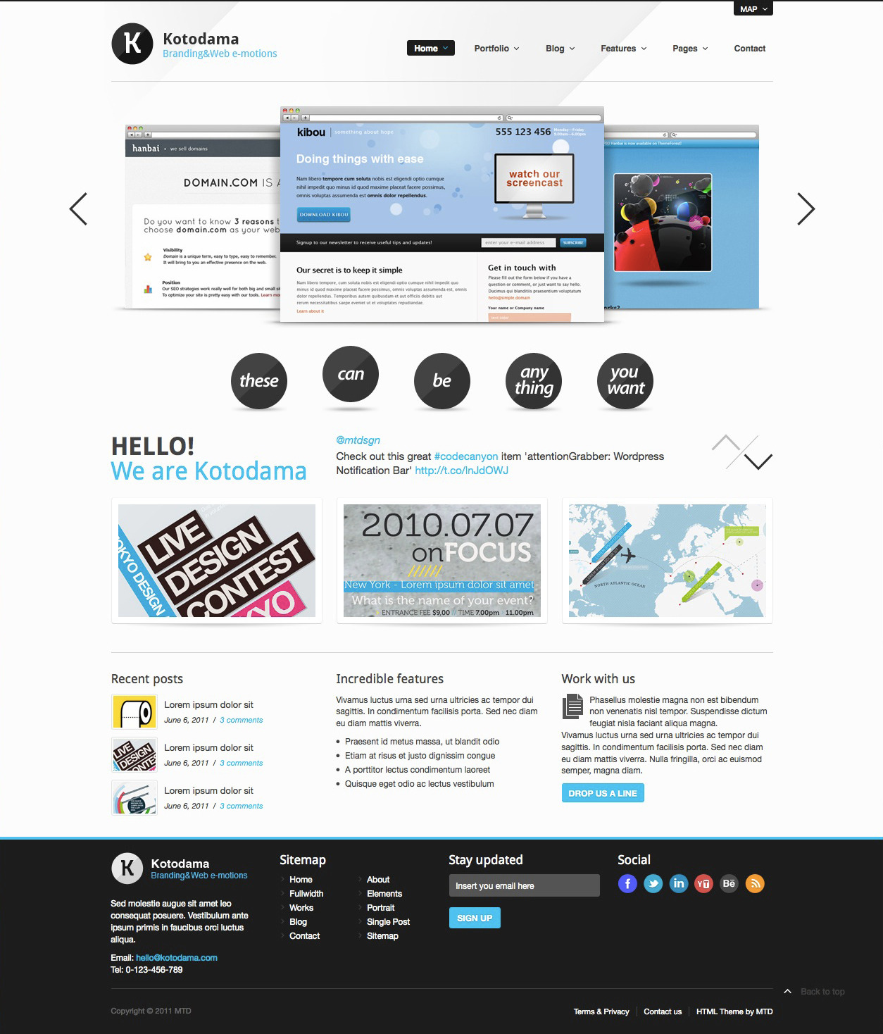 Kotodama - HTML Business Theme