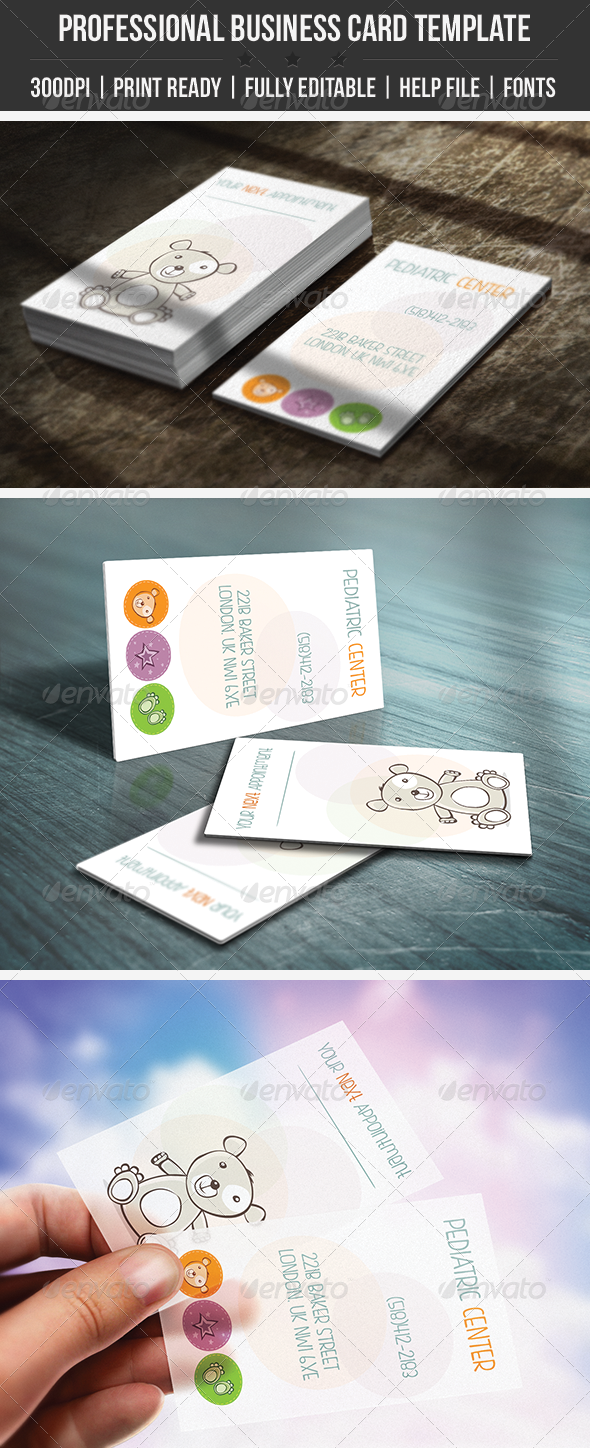 GraphicRiver Pediatric Business Card 4394835