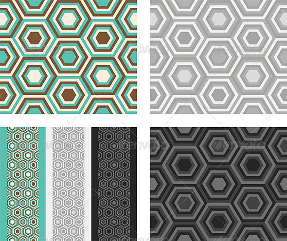 GraphicRiver Fashion Pattern with Hexagons 4491024