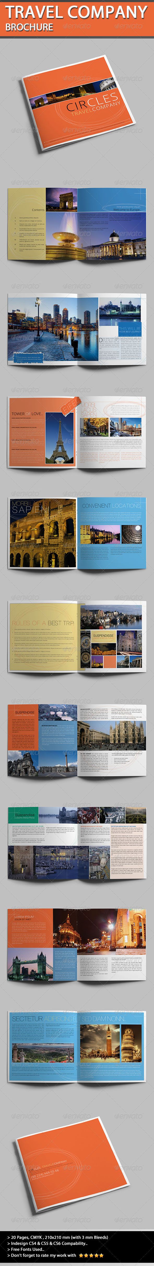 GraphicRiver Travel Company Brochure Circles 4491058
