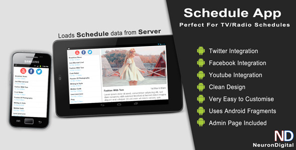 Tv Radio Schedule App - CodeCanyon Item for Sale