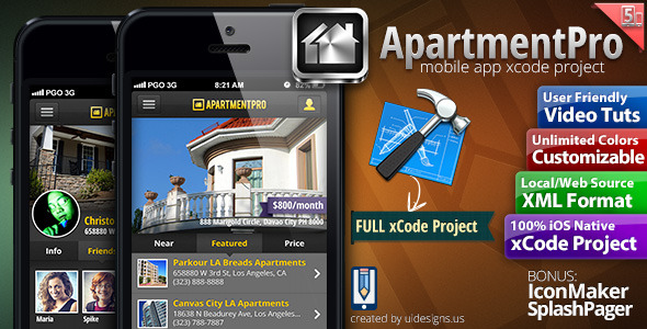 CodeCanyon Apartment Real Estate iPhone Full Applicatio xCode 4476808