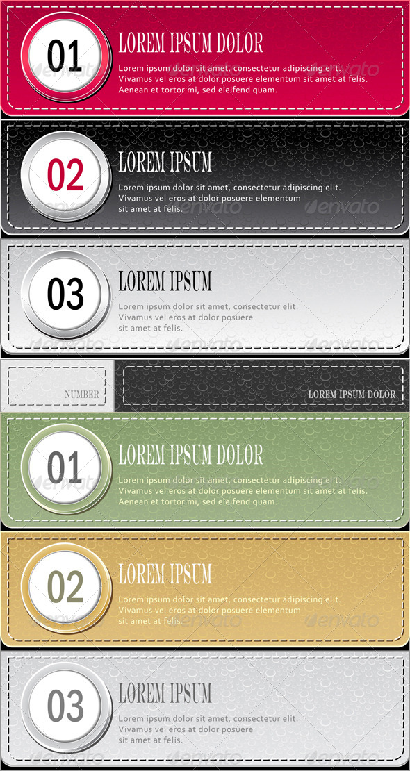 GraphicRiver Modern Template Set of Banners and Infographics 4491378