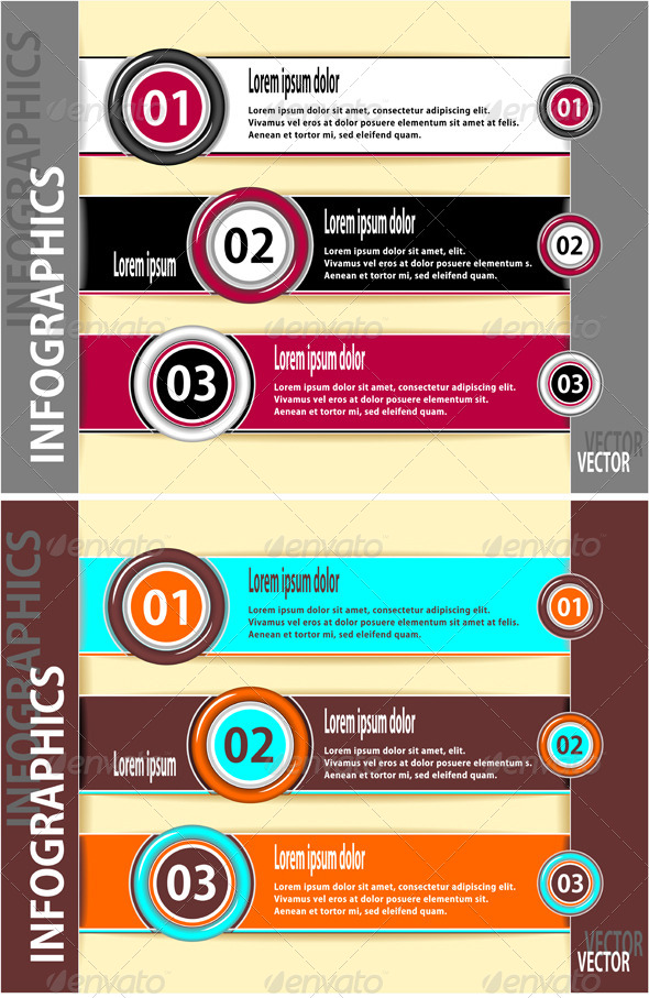 GraphicRiver Set Modern Banners or Template of Infographics 4491449