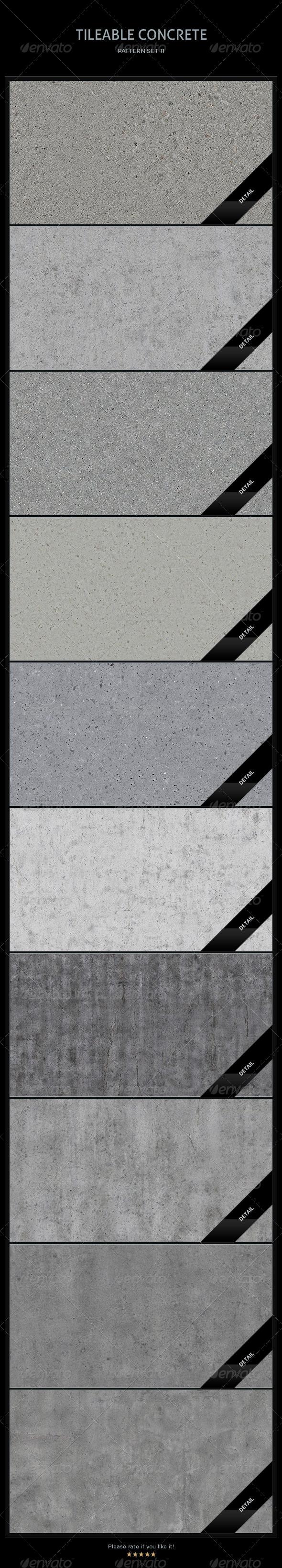 10 Tileable Concrete Textures/Patterns - Miscellaneous Textures / Fills / Patterns