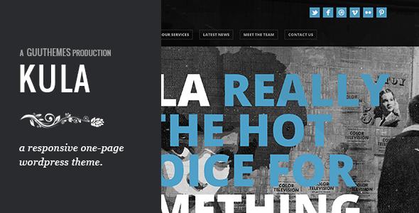 ThemeForest KULA Responsive HTML5 One Page WordPress Theme 4491523