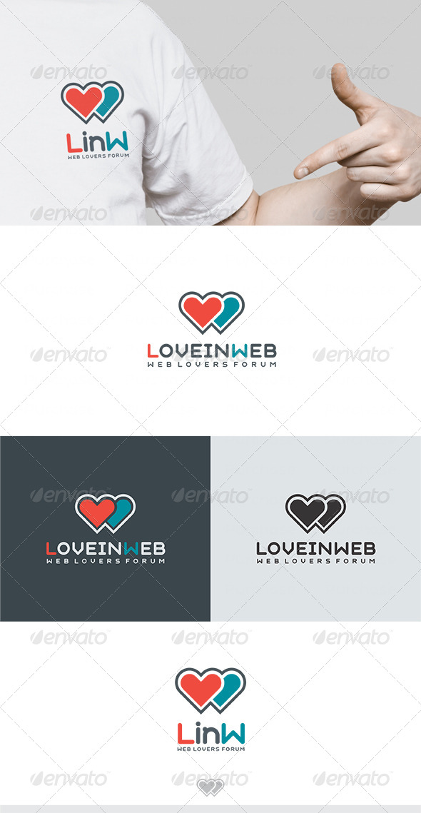 Love in Web Logo - Letters Logo Templates