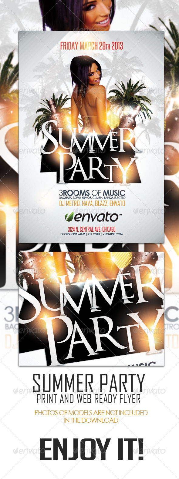 GraphicRiver Summer Party Flyer 4376665