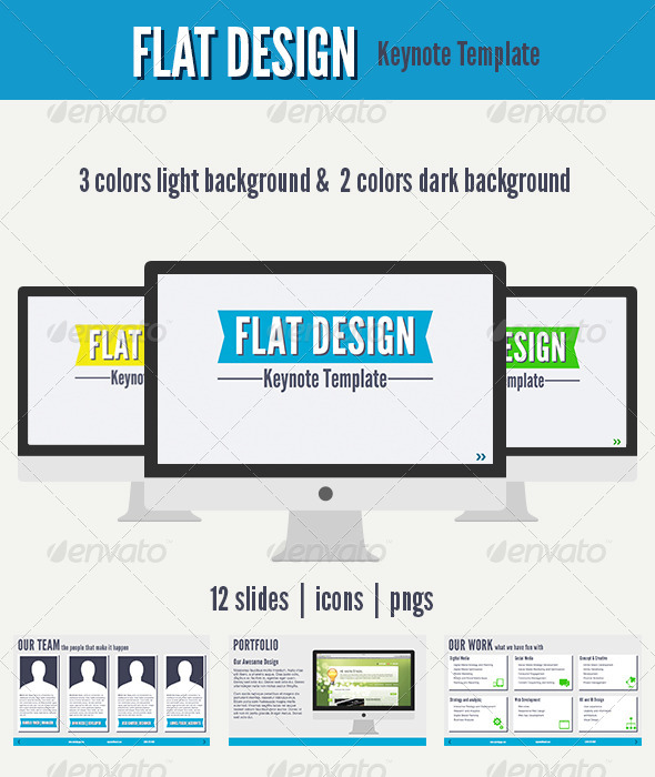 GraphicRiver Flat Design Keynote Template 4491930