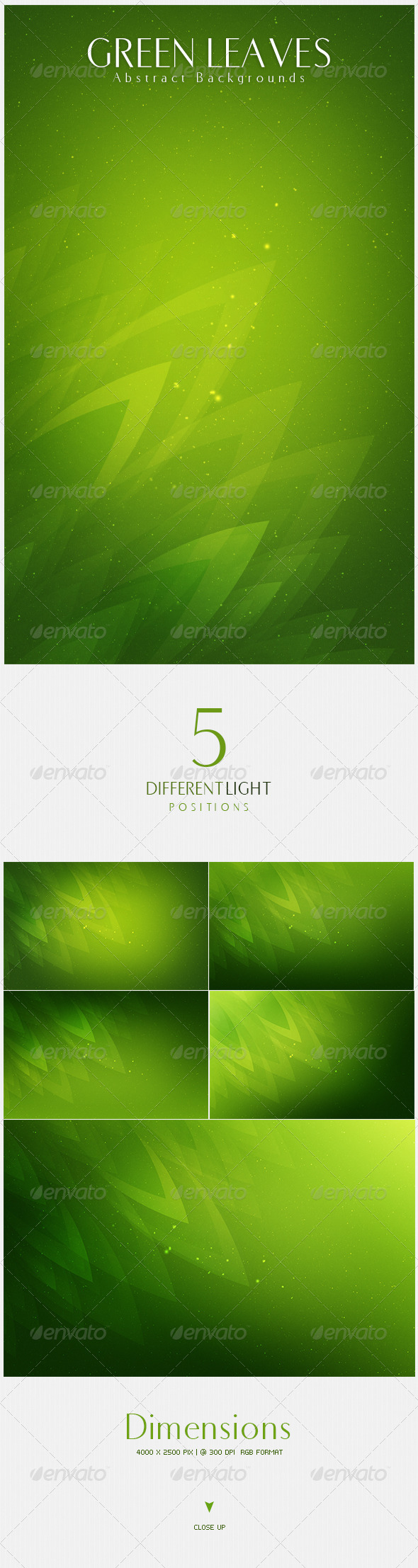 GraphicRiver Green Leaves Abstract Backgrounds v2 4491971