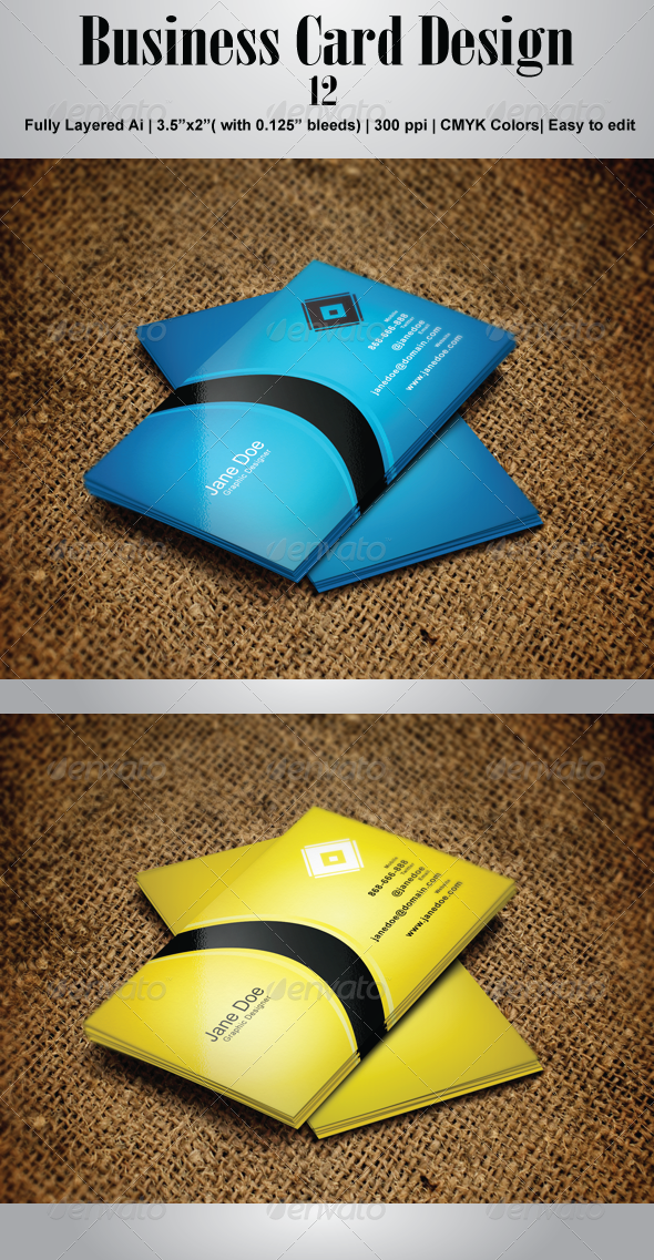 GraphicRiver Business Card 12 4491991