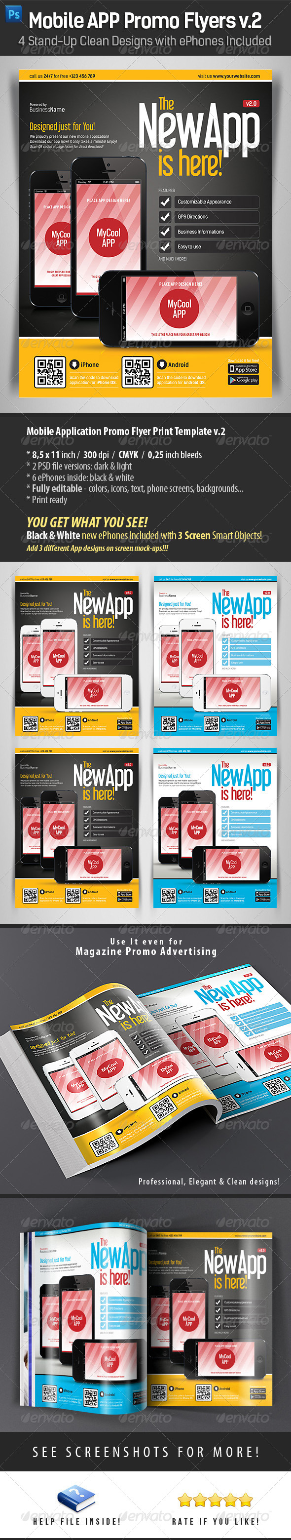 GraphicRiver Mobile App Flyers Template v.2 4491993