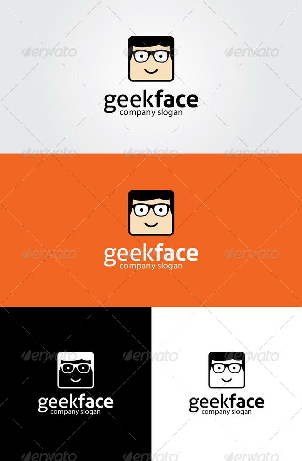 GraphicRiver Geek Face Logo Template 4421826