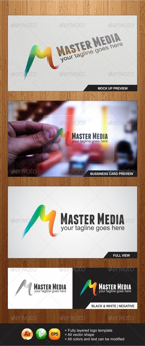 Master Media logo - Letters Logo Templates